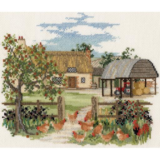 """""""Lakeside Farm"""" Counted Cross Stitch Kit by Rose Swalwell"""