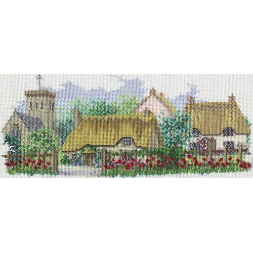 """Poppyfield Lane"" Counted Cross Stitch Kit by Rose Swalwell"