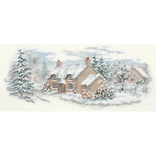 """""""Holly Lane"""" Counted Cross Stitch Kit by Rose Swalwell"""