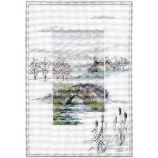 """Winter Bridge"" Counted Cross Stitch Kit by Rose Swalwell"