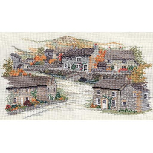 """""""Derbyshire Village"""" Counted Cross Stitch Kit by Rose Swalwell"""