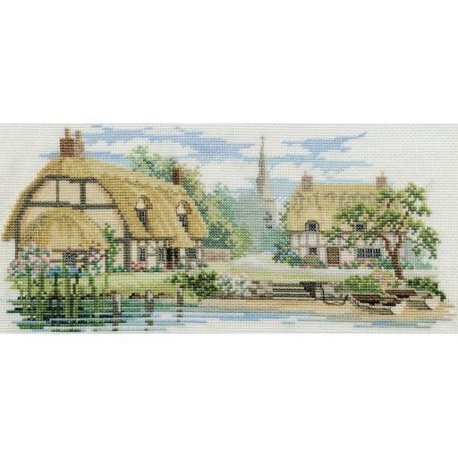 """Waterside Lane"" Counted Cross Stitch Kit by Rose Swalwell"