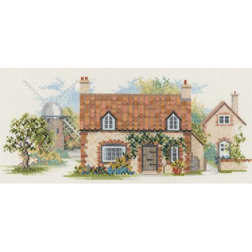 """""""Old Mill Lane"""" Counted Cross Stitch Kit by Rose Swalwell"""