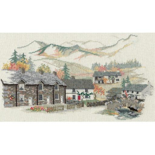 """""""Cumbrian Village"""" Counted Cross Stitch Kit by Rose Swalwell"""
