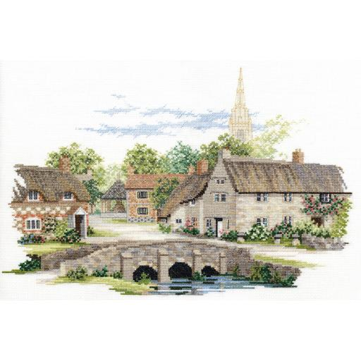 """""""Wiltshire Village"""" Counted Cross Stitch Kit by Rose Swalwell"""