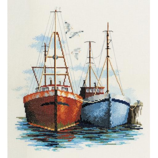 """""""Fish Quay"""" Counted Cross Stitch Kit by Rose Swalwell"""