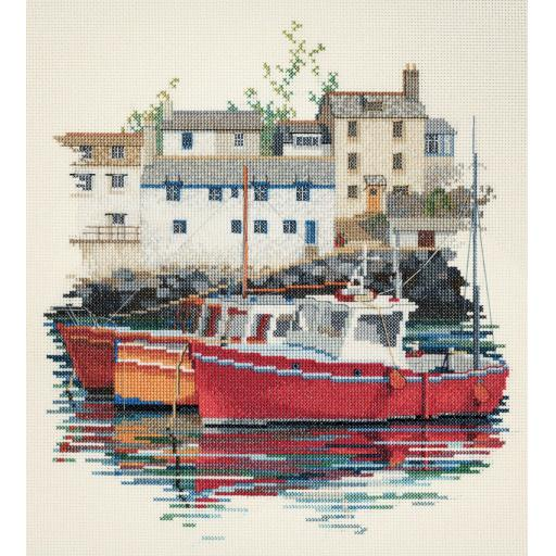 """""""Fishing Village"""" Counted Cross Stitch Kit by Rose Swalwell"""