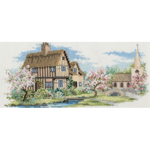 """""""Blossom Lane"""" Counted Cross Stitch Kit by Rose Swalwell"""