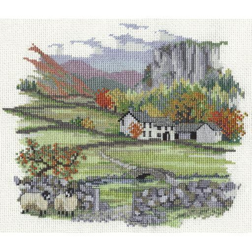"""""""Cragside Farm"""" Counted Cross Stitch Kit by Rose Swalwell"""