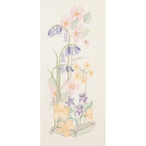"""""""Spring Panel"""" Counted Cross Stitch Kit by Rose Swalwell"""