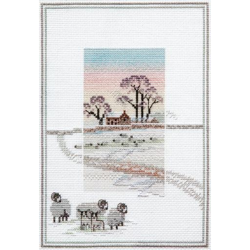 """""""Snowy Sheep"""" Counted Cross Stitch Kit by Rose Swalwell"""