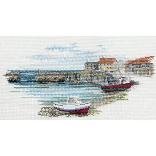 """""""Fisherman's Haven"""" Counted Cross Stitch Kit by Rose Swalwell"""