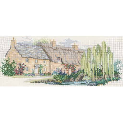 """""""Willowbrook Lane"""" Counted Cross Stitch Kit by Rose Swalwell"""