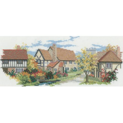 """""""October Lane"""" Counted Cross Stitch Kit by Rose Swalwell"""