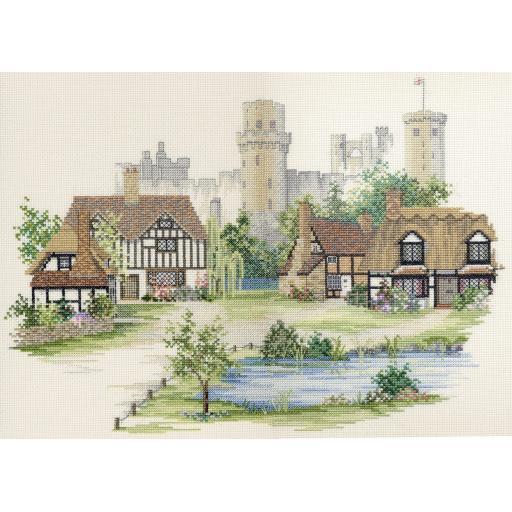 """Warwickshire Village"" Counted Cross Stitch Kit by Rose Swalwell"