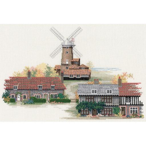 """""""Norfolk Village"""" Counted Cross Stitch Kit by Rose Swalwell"""
