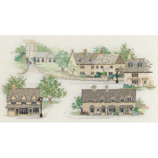 """""""Cotswold Village"""" Counted Cross Stitch Kit by Rose Swalwell"""